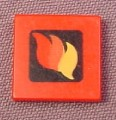 Lego 3068bpx130, Red 2x2 Tile with Fire Canoe Logo Pattern, 4914 7240 7241 65799
