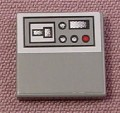 Lego 3068, Gray 2x2 Tile with Half Size Console Pattern, Parts with Patterns