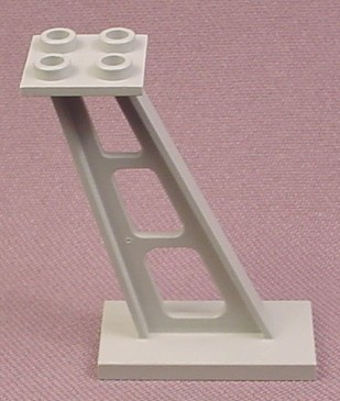 Lego 4476, Gray 2x4x5 Inclined Stanchion Support, 6991 4990 4055 6984, Rock Raiders Space