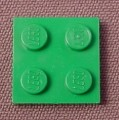 Lego 3022 Green 2x2 Plate