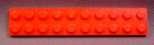 Lego 3832 Red 2x10 Plate, Star Wars, Vikings, Trains, Racers, 8 1/8 In Long