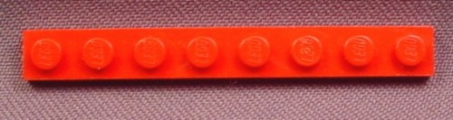 Lego 3460 Red 1x8 Plate