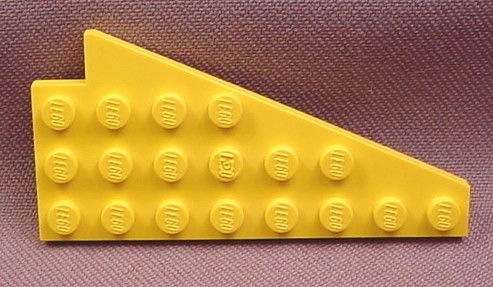 Lego 3933 Yellow 4x8 Left Wing Plate
