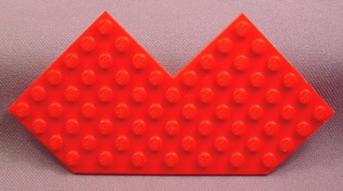 Lego 2401 Red 10x10 Plate Without Corner, 6939 6959, Space