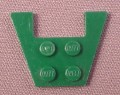 Lego 4859 Dark Green 3x4 Wing Plate with 1x2 Cut-out, Without Stud Notches