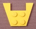 Lego 4859 Yellow 3x4 Wing Plate with 1x2 Cut-out, Without Stud Notches