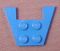 Lego 4859 Blue 3x4 Wing Plate with 1x2 Cut-out, Without Stud Notches