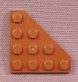 Lego 30503 Brown 4x4 Triangle Plate, 3451 4502, Star Wars