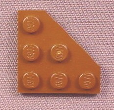 Lego 2450 Brown 3x3 Triangle Plate, 7665 7674 7676 7714 10179 10195 10215, Star Wars, Exo-Force