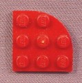 Lego 30357 Dark Red 3x3 Corner Round Plate, 7259 8088 8874, Star Wars, Castle
