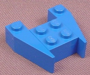 Lego 2399 Blue 3x4 Wedge Without Stud Notches, NASA, Space
