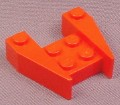 Lego 2399 Red 3x4 Wedge Without Stud Notches, Racers