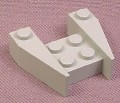 Lego 2399 Gray 3x4 Wedge Without Stud Notches, 2154 7180 78744, Star Wars