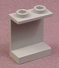 Lego 4864 Gray 1x2x2 Panel With Hollow Studs, 10129 4483 7130 6568 4707 10022 4851 4701 7470