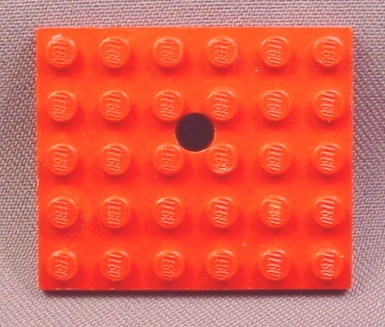 Lego 711 Red 5x6 Plate with Offset Hole, 310 331 332 336 337 371 372 374 377