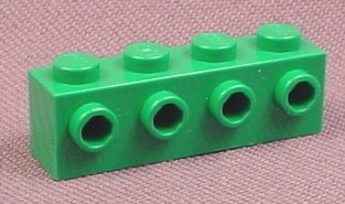 Lego 30414 Green 1x4 Brick with 4 Technic Studs on 1 Side, 4581 6617, Technic, Racers