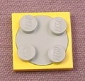 Lego 3679 & 3680 Yellow & Gray Turntable Base with Plate Top, Launch Command, Time Cruisers
