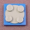 Lego 3679 & 3680 Blue & Gray Turntable Base with Plate Top, 5864 7208 7664 8154 10199 10215