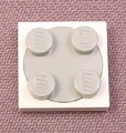 Lego 3679 & 3680 White & Gray Turntable Base with Plate Top, 4983 5974 7674 8083 10189