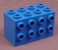 Lego 2434 Blue 2x4x2 Brick with 8 Studs On Sides, 6190 6454 10019, Star Wars, Aquazone