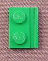 Lego 32028 Green 1x2 Plate with Door Rail, 7133 7126 8479 40019 4562 7264 7683 7595 7898 5865