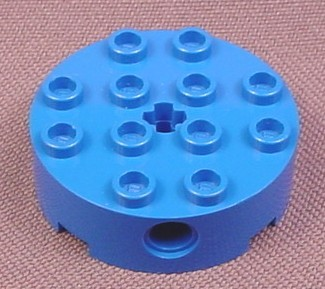 Lego 6222 Blue 4x4 Round Brick with 4 Holes & Technic Hole, 7159 7161, Star Wars