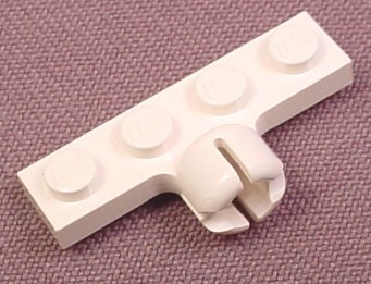 Lego 3183 White 1x4 Plate with Towball Socket, Western