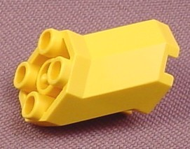 Lego 6032 Yellow 2x3x1 2/3 Octagonal Offset Brick, 6180 6195 6199 6494, Aquazone Time Cruisers