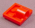 Lego 2444 Red Plate with Axle Hole Hub on Bottom, Star Wars, Castle, Racers, Bionicle, Aquazone