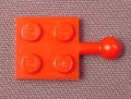 Lego 3731 Red 2x2 Plate with Towball, Trains, Holidays