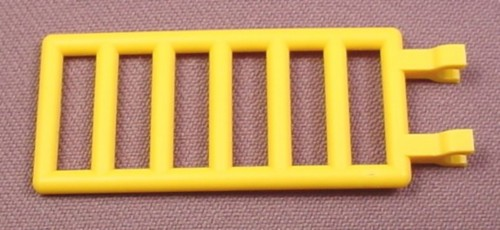 Lego 6020 Yellow 7x3 Ladder or Fence with Bars & 2 Clips, 2962 6435 6558 6559 6560