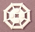 Lego 30033 White 2x2 Octagonal Rod Frame Plate, Star Wars, Pirates, Space, Sculptures