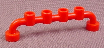 Lego 4873 Red 1x6 Bar Fence Railing With Open Studs, 4021