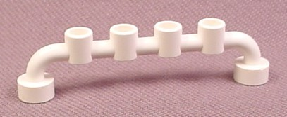 Lego 4873 White 1x6 Bar Fence Railing With Open Studs, 4010 6642 6392 6353 1974 735 6540 6992