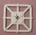 Lego 30094 Gray 2x2 Square Rod Frame Plate, 6557 6430 6479 6497 6599 6560, Adventurers