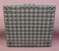 Lego 52040 Dark Stone Gray 12x12 Brick Base with 3 Holes on Each Side & Axle Holes in Corners