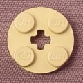 Lego 4032 Tan 2x2 Round Plate with Center Technic Hole, Star Wars, NASA, Sculptures