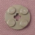 Lego 4032 Dark Gray 2x2 Round Plate with Center Technic Hole, 7163 4047 7191 7468 8479 10123