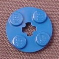 Lego 4032 Blue 2x2 Round Plate with Center Technic Hole, Model Team, Mindstorms, Star Wars