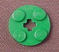 Lego 4032 Green 2x2 Round Plate with Center Technic Hole, Star wars, Batman, Belville, Trains