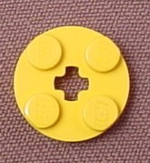 Lego 4032 Yellow 2x2 Round Plate with Center Technic Hole, NASA, Star Wars, Harry Potter