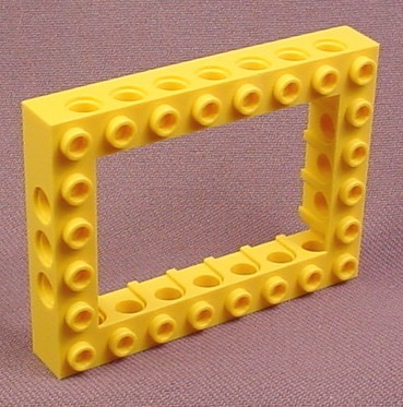 Lego 32532 Yellow 6x8 Technic Brick with Open 4x6 Center, 9762 7344 7734 7249 8275 7900 4792