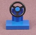 Lego 3829 Blue Steering Wheel on Stand