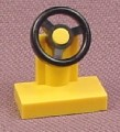 Lego 3829 Yellow Steering Wheel on Stand