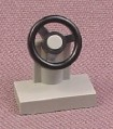 Lego 3829 Gray Steering Wheel on Stand