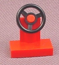 Lego 3829 Red Steering Wheel on Stand