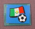 Lego 3855 Transparent Blue 1x4x3 Window Glass With Mexico Flag & Soccer Ball Sticker