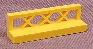 Lego 3633 Yellow 1x4x1 Fence with Lattice