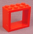 Lego 4132 Red 2x4x3 Window Frame
