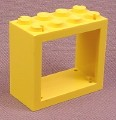 Lego 4132 Yellow 2x4x3 Window Frame
